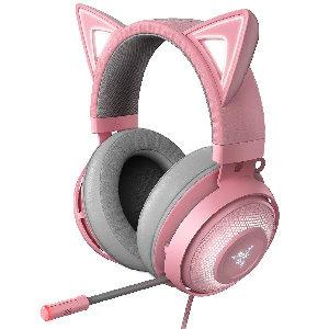 Auriculares gamer profesionales con orejas de gato