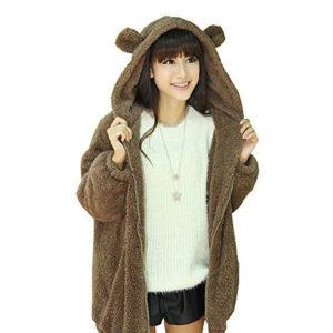 chaqueta o abrigo con orejas de oso, gato, perro y otro tipo de animales
