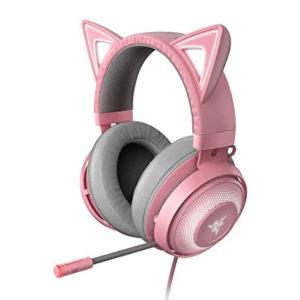 auriculares gaming con orejas de gato, especial para gamers