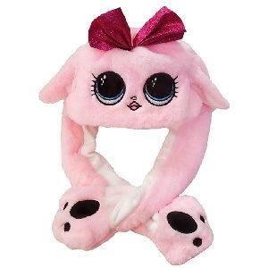 divertido gorro con orejas que se mueven al apretar las patitas. Disponible con orejas animales variados