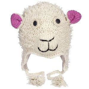 gorro de oveja hecho a mano con lana cálida y natural