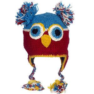 Gorrito de pájaro loro hecho a mano con lana de calidad