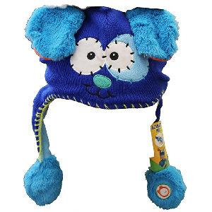 gorro de lana para niño con orejas móviles de perro