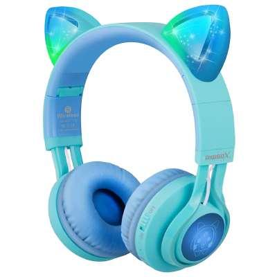 auriculares infantiles Riwbox con orejas de gato y bluethoot