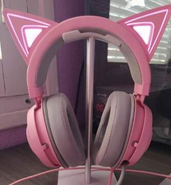 cascos kraken kitty rosa con orejitas