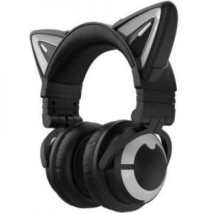 Auriculares YOWU con orejas de gato para gaming y streaming